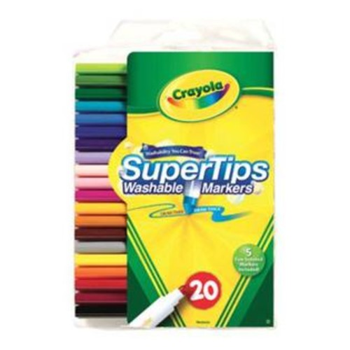 Crayola 58-8106 Washable Super Tips Markers With Silly Scents