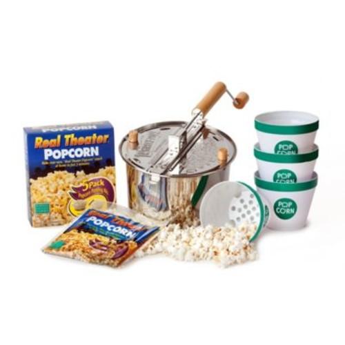Whirley Pop Stainless Steel Popcorn Maker Starter Set