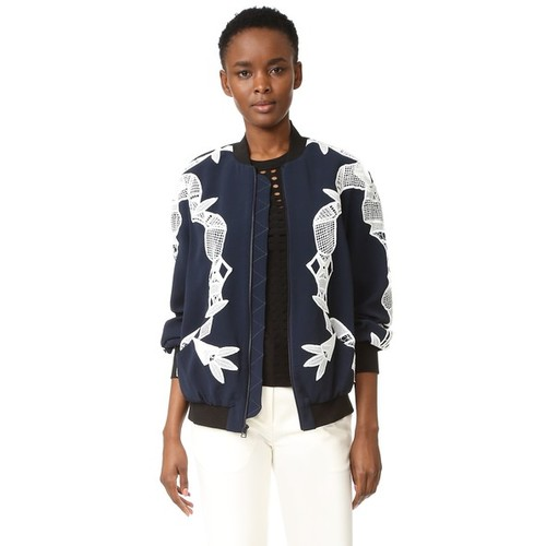 JONATHAN SIMKHAI Bomber Jacket With Applique
