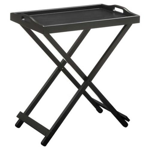 Convenience Concepts Designs2Go Folding Tray Table, Black [Black]