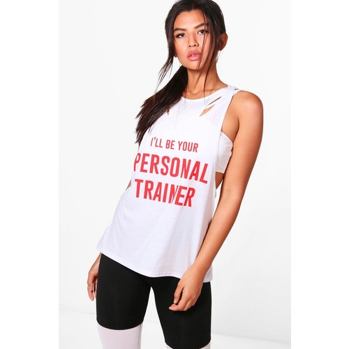 Zoe Fit Personal Trainer Slogan Workout Vest