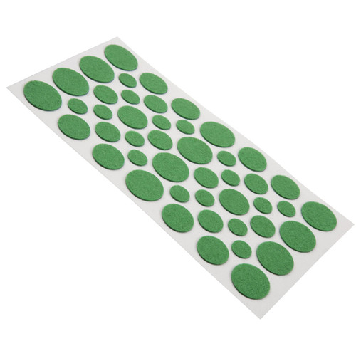 Soft Touch 4615095N Assorted Sizes Green Round Light Duty Felt Pads 46 pc Set