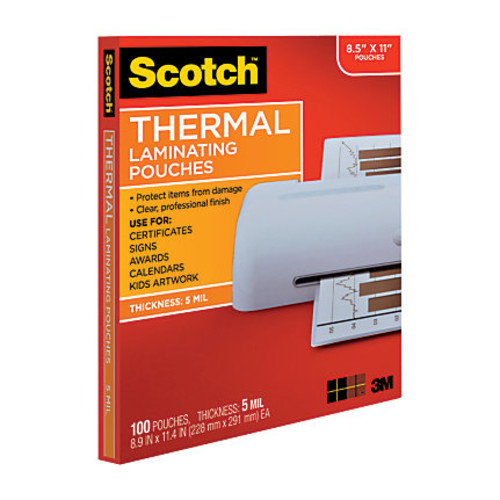Scotch Thermal Laminating Pouches, 8 15/16