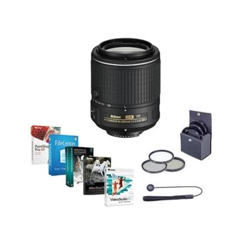 Nikon 55-200mm f/4-5.6G ED VR II AF-S DX NIKKOR Lens USA w/Free Accessory Bundle 20050 NK