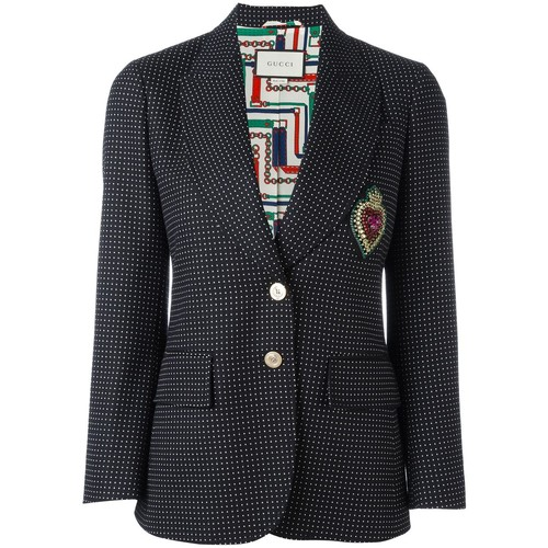 GUCCI Embroidered Single Breasted Jacket