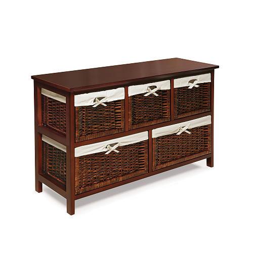 Badger Basket Five Basket Storage Unit - Cherry