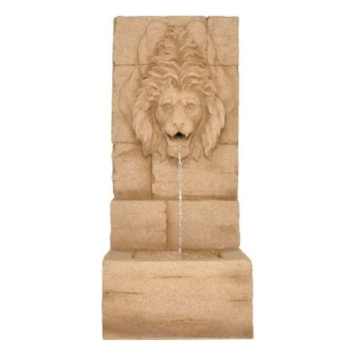 Zenvida Resin Lion Head Waterfall Outdoor Garden Fountain