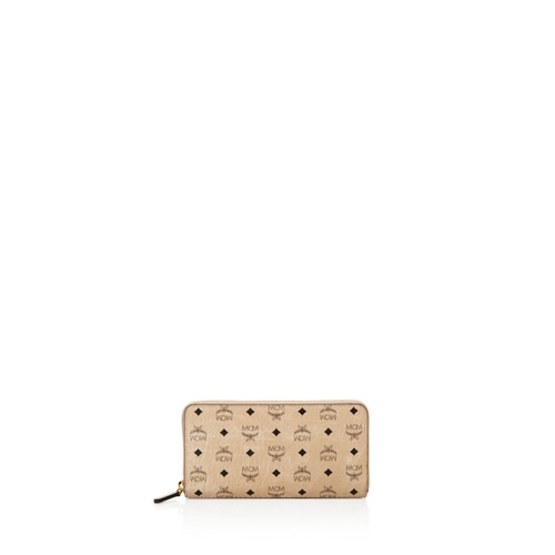 MCM Visetos Zip Large Wallet