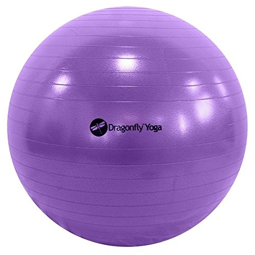 DragonFly Yoga Premium Anti-Burst Fitness Ball [Blue, 75cm]