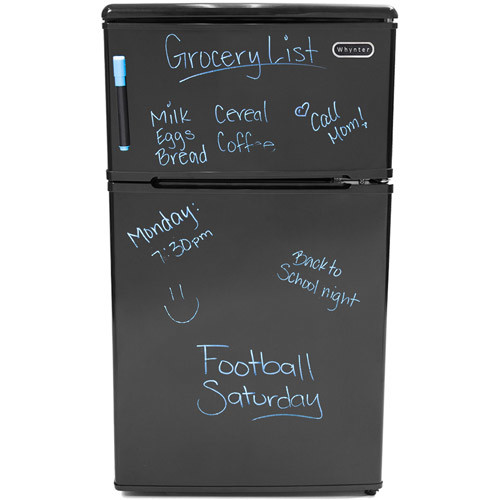 Whynter 3.1 cu ft Two Door Compact Refrigerator/Freezer, Black