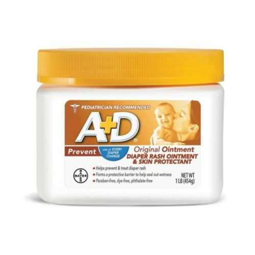 A+D Original Diaper Rash Ointment & Skin Protectant Jar, 16 Oz