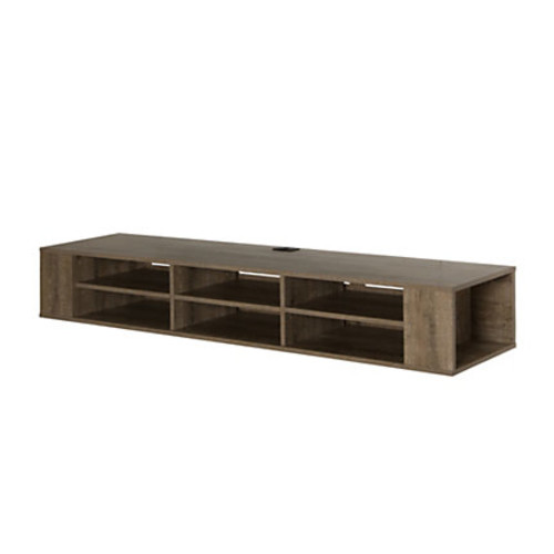 South Shore City Life Wall-Mounted Particleboard Media Console For TVs Up To 66