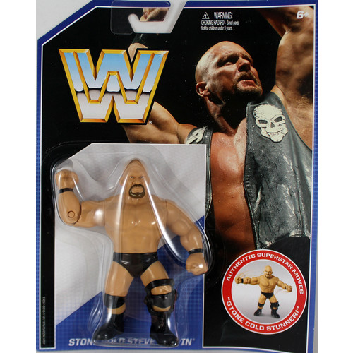WWE Stone Cold Steve Austin - Retro Toy Wrestling Action Figure
