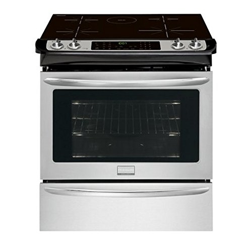 Frigidaire - Gallery 4.6 Cu. Ft. Self-Cleaning Slide-in Electric Induction Convection Range - Stainless steel
