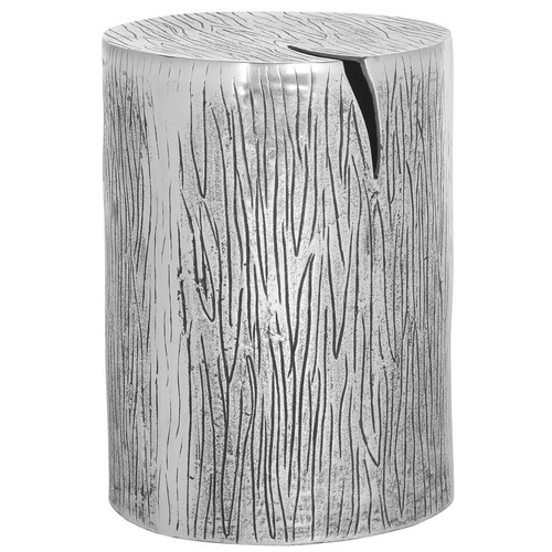 Safavieh Forrest Metal Table Stool in Silver