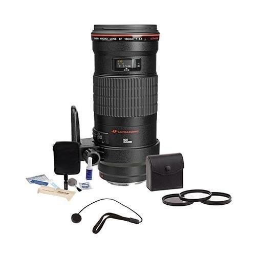 Canon EF 180mm f/3.5L Macro USM AF Lens Kit,- USA with 72mm Photo Essentials Filter Kit, Lens Cap Leash, Professional Lens Cleaning Kit,