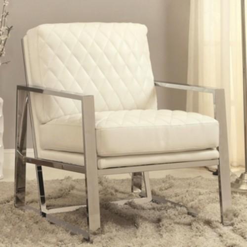 Eclipse Mid Century Modern Black Chrome Bold Design Accent Chair