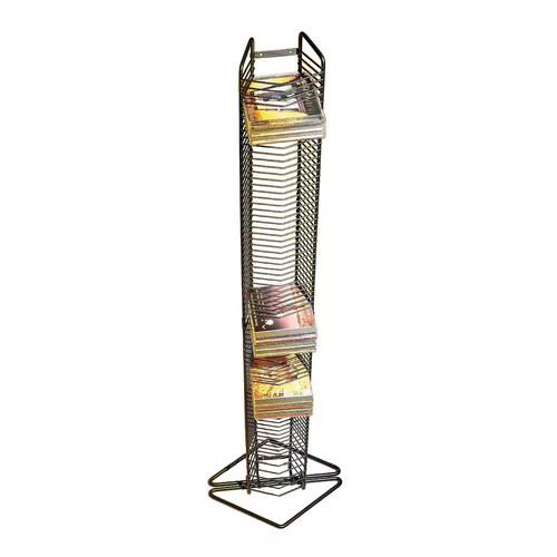 Atlantic Onyx 1248 80 CD Tower (Matte Black Steel)
