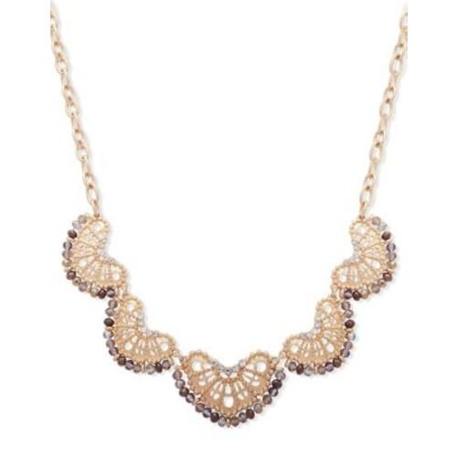 Crystal Filigree Statement Necklace