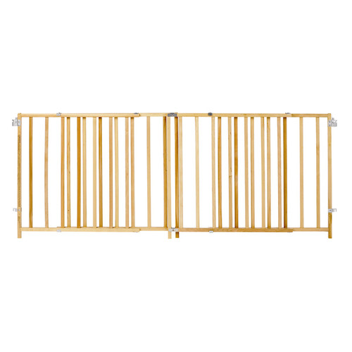 North States Extra Wide Wood Swing Gate - brown