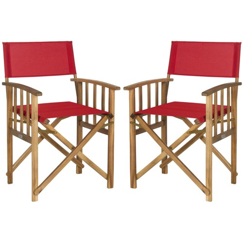 Laguna Director Chair in Red design by Safavieh