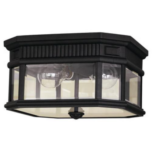 Feiss 2 - Light Ceiling Fixture, Black