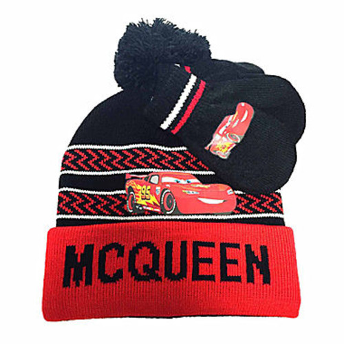 Disney Collections Lightning McQueen Hat and Mittens Set - Toddler Boys 2t-4t
