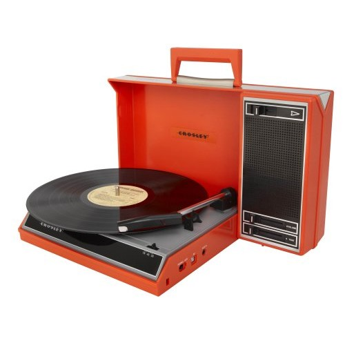 Crosley CR6016A-RE Spinnerette Portable USB Turntable with Software for Ripping and Editing Audio, Red [Red]