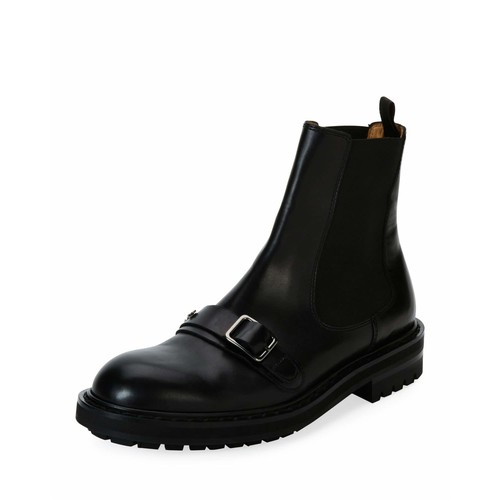 ALEXANDER MCQUEEN Leather Chelsea Boot, Black