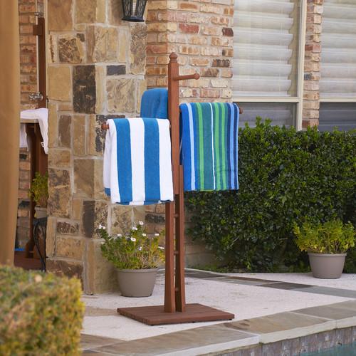 Upton Home Raylen Eucalyptus Natural Oil Finish Towel Rack