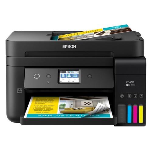 Epson WorkForce ET-4750 EcoTank Wireless Color Inkjet All-In-One Printer, Copier, Scanner, Fax, C11CG19201