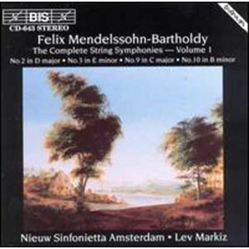 Mendelssohn: Complete String Symphonies, Vol. 1 By Lev Markiz (Audio CD)