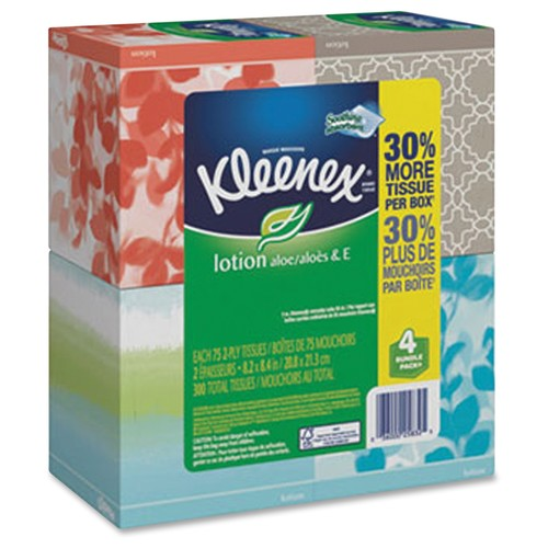 Kimberly-Clark 25829 Kleenex LotionFacial Tissue (Case of 27 Boxes)