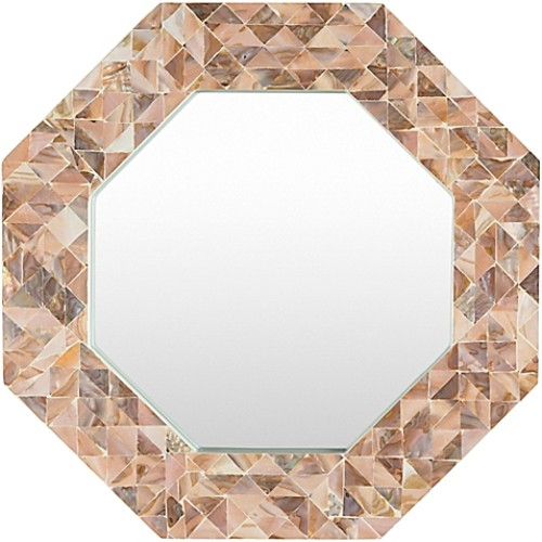 Surya Kamala 27.6-Inch Wall Mirror in Brown