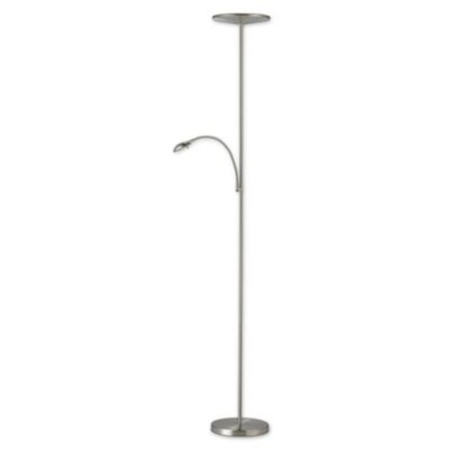 Adesso Pluto Satin Steel Combo Floor Lamp