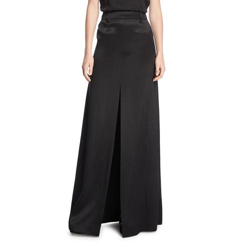 PRADA Long A-Line Satin Skirt