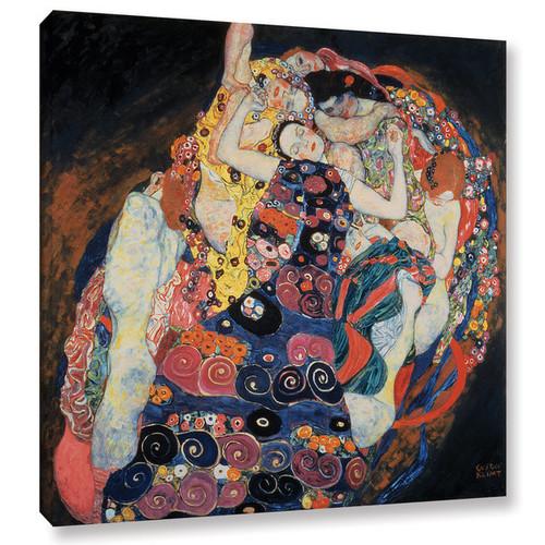 Gustav Bridgeman Klimt's 'The Maiden, 1913' Gallery Wrapped Canvas - Multi