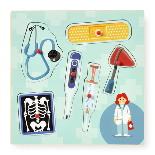 Imaginarium 6 Piece Occupation Peg Puzzle with Pocket - Doctor