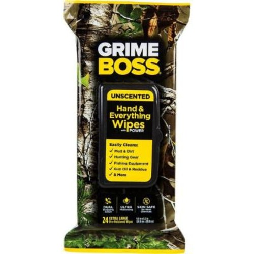 GRIME BOSS 24-Count Realtree Unscented Hand Wipes