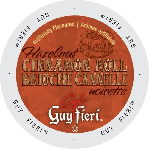 Guy Fieri Coffee Hazelnut Cinnamon Roll Single-serve Portion Pack for Keurig K-Cup Brewers