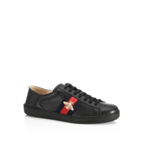 GUCCI Ace Bee Leather Sneakers