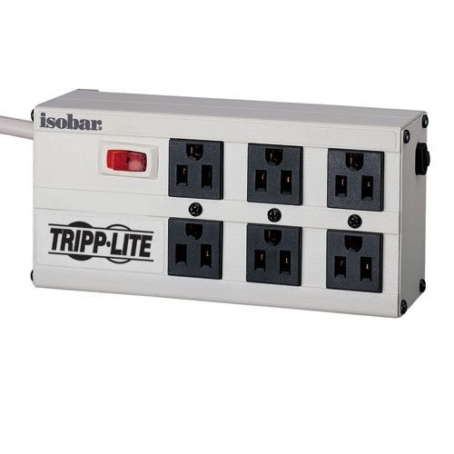 Tripp Lite Isobar 6 Outlet Surge Protector Power Strip, 6ft Cord Right Angle Plug