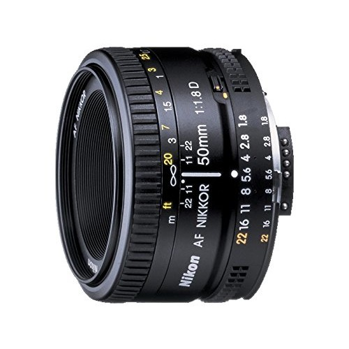 Nikon AF FX NIKKOR 50mm f/1.8D Lens with Auto Focus for Nikon DSLR Cameras [Lens Only]