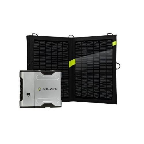 Goal Zero 42005 Sherpa 50 Silver/Black Solar Recharging Kit with Inverter Garden, Lawn, Supply, Maintenance