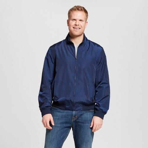 Men's Big & Tall Nylon Harrington Windbreaker Jacket - Merona Navy