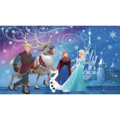 RoomMates 72 in. W x 126 in. H Disney Frozen Magic XL Chair Rail 7-Panel Prepasted Wall Mural