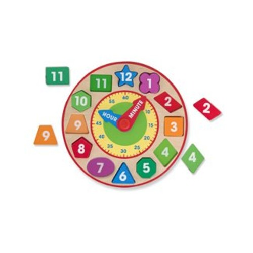 Melissa & Doug Shape Sorting Clock - Wooden Educational Toy [Standard Version]