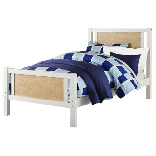 Dorel Living Blaine Twin Bed - White/Wheat
