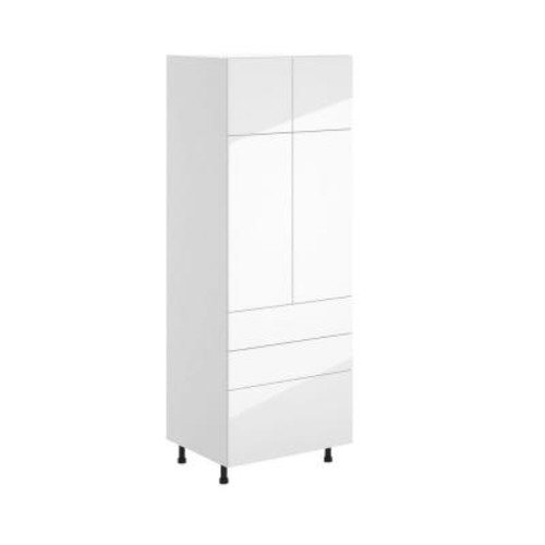 Eurostyle Valencia Ready to Assemble 30.25 x 83.625 x 24.375 in. Pantry/Utility Pantry Cabinet in White Melamine and Door in White
