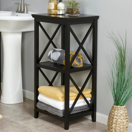 RiverRidge Home Products X- Frame Collection 3-Shelf Storage Tower